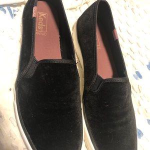 Velvet Slip on Keds, worn once- Sz. 10